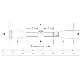 Sightron SIII Long Range 10-50x60 Side Focus MOA-2 Reticle Scope Dimensions