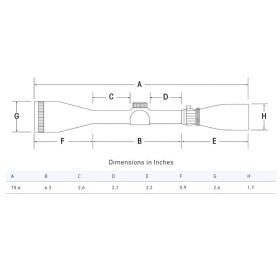 Sightron SIII Long Range 8-32x56 Side Focus MOA-1 Reticle Scope Dimensions