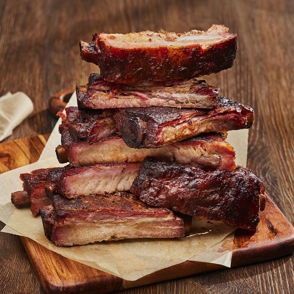 Pork Spare Ribs, Unsauced Slab