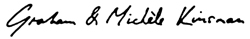 Graham and Michele Kinsman signature