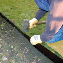 Lawn Edging - Step 3 - Tap EverEdge Into Place
