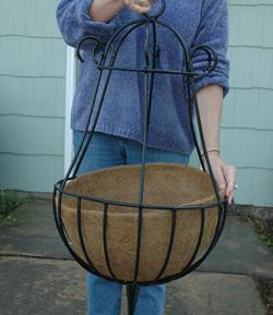 Coco Fiber Liner for 14 Inch Peacock Hanging Basket