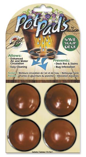 Pot Pads/4 Pack in Brown