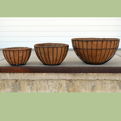 Coco Fiber Liner for Welcome Planter, 17 Inch London Basket, or 20 Inch Hanging Sphere