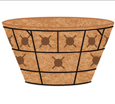 16 Inch Double Tier Basket Planter & Liner Set