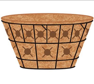 20 Inch Double Tier Basket Planter & Liner Set