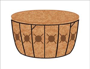 16 Inch Single Tier Basket & Liner Set
