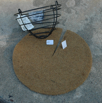 Coco Fiber Liner (Flat Style) for 12 Inch Basket
