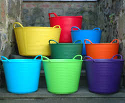 Large Trug Tubs in Brilliant Colors