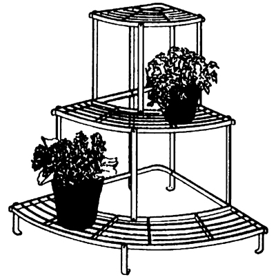 Quarter-Round Tiered Plant Stand