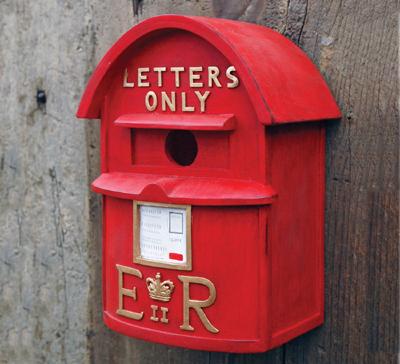 English Postbox Birdhouse