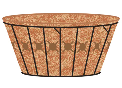 Coco Fiber Liner with Holes for 20 Inch Single Tier Basic Basket