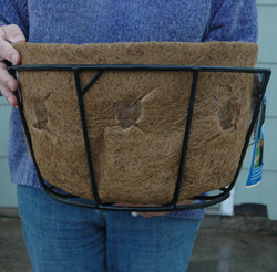 Coco Fiber Liner with Holes for 16 Inch Single Tier Basic Basket