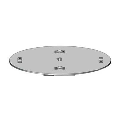 9 Inch Disk With Gripping Clips For 2 Inch ROUND METAL Pole
