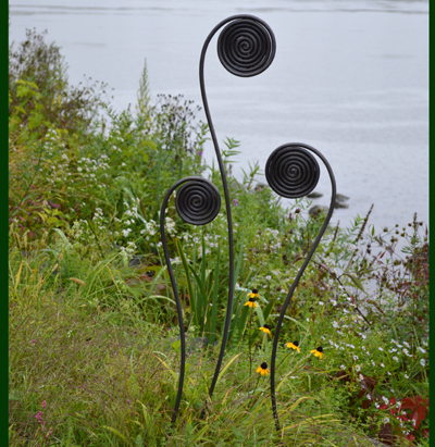 Fiddlehead Fern Stakes-Giant Size (Set of 3)