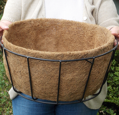 Coco Fiber Liner with No Holes for 16 Inch Single Tier Basic Basket