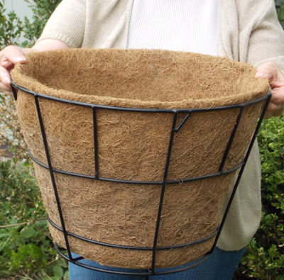 "Coco Fiber Liner with No Holes for 16"" Double Tier Basic Basket"