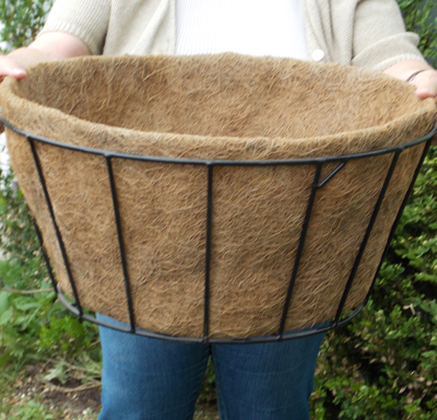 Coco Fiber Liner with No Holes for 20 Inch Single Tier Basic Basket