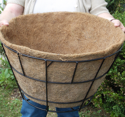 Coco Fiber Liner with No Holes for 20 Inch Double Tier Basic Basket