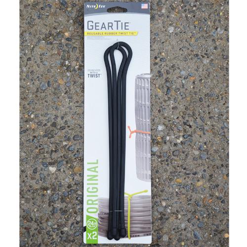 Gear Ties ® 24 Inch 2 pack (Black)