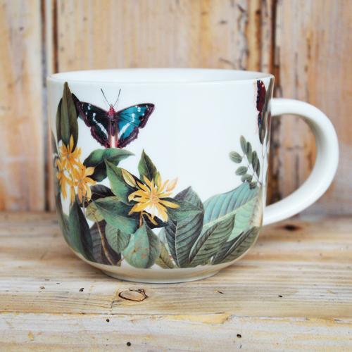 Kew Midnight Floral Mug