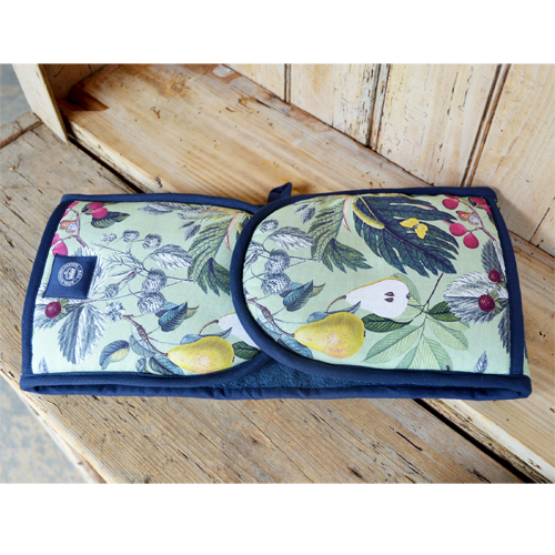 Kew Fruit and Floral Double Oven Gloves