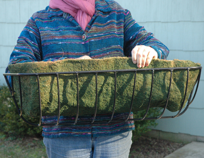 "Green Coco Fiber Liner For 44"" Hayrack (For KC19 Planter)"