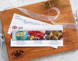 Choice of Meal E-Gift Certificate (Delivered Via Email)