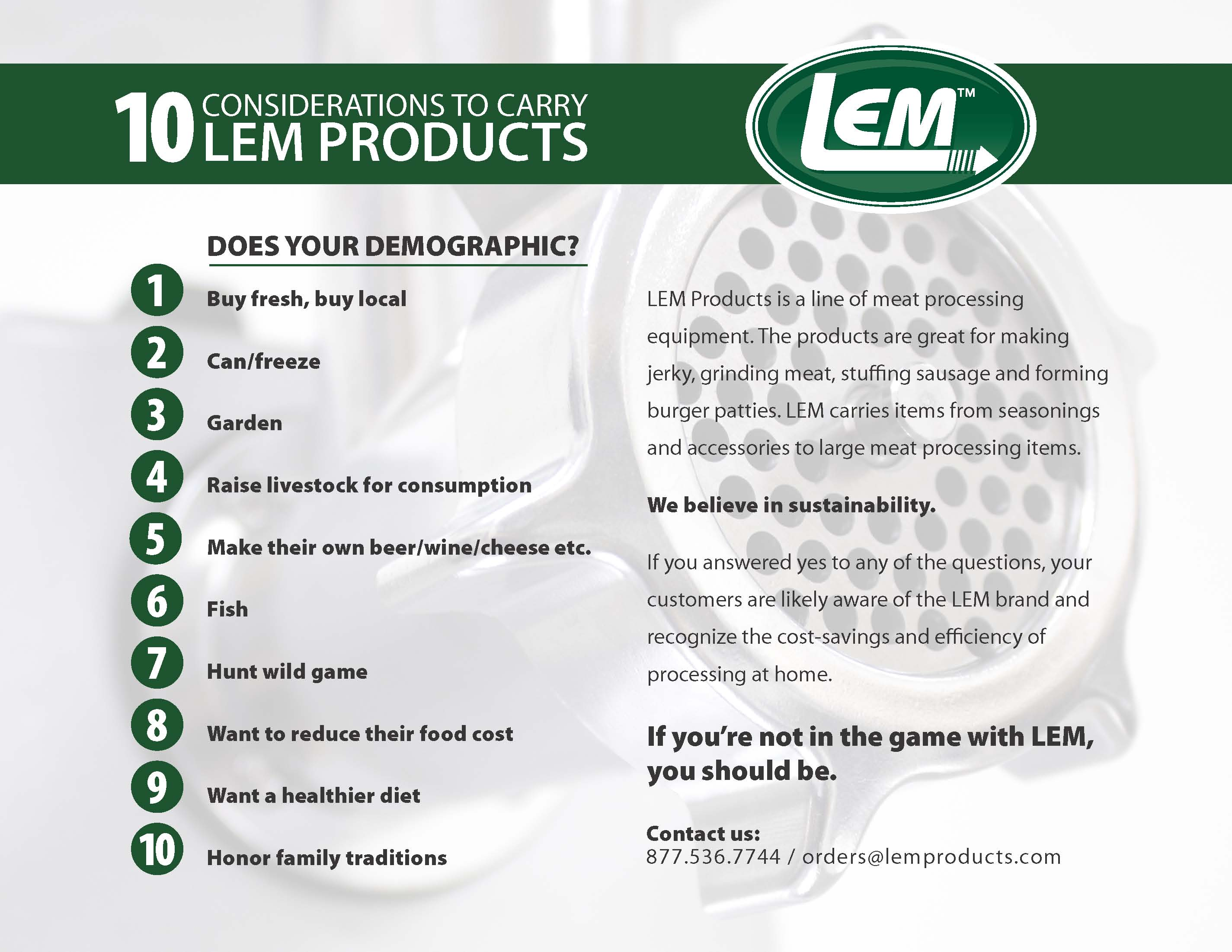 10 Considerations to Carry LEM Products