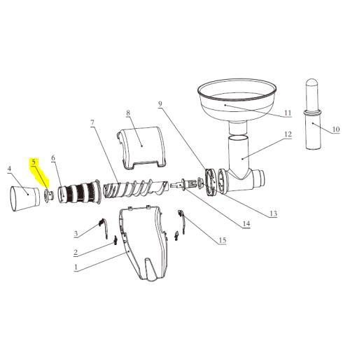 Part - Rubber Plug for Big Bite Juicer Attachment