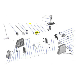 Schematic - Worm Gear/Auger for # 1113 Meat Grinder