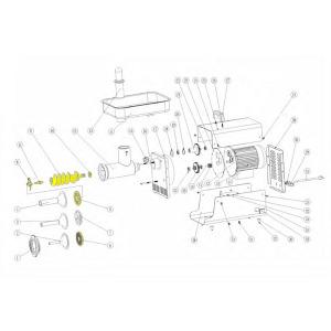 Schematic - Conversion Kit for # 32 Big Bite Grinder # 782
