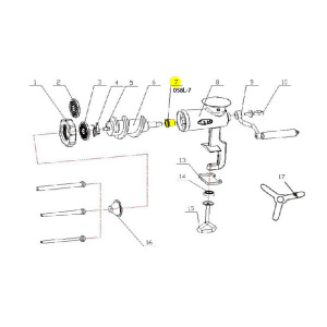 Schematic - Bushing for # 10 Tinned Hand Grinder # 058