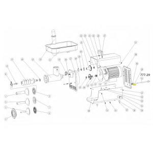 Schematic - Circuit Breaker for # 8 Big Bite Grinder # 779