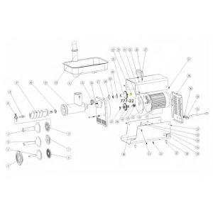 Schematic - Bearing for # 5 Big Bite Grinder # 777