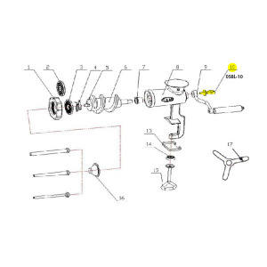 Schematic - Handle Screw for # 10 Tinned Hand Grinder # 058