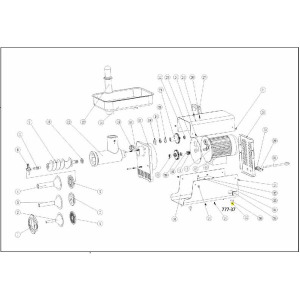 Schematic - Phillips Screw for Plastic Foot for # 5 Big Bite Grinder # 777