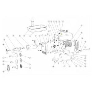 Schematic - Handle Screw for # 12 Big Bite Grinder # 780