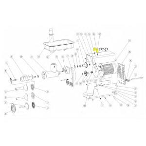 Schematic - Handle for # 12 Big Bite Grinder # 780