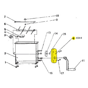 Schematic - Handle for 20 lb. Manual Mixer # 654