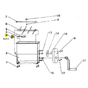 Schematic - Spring for 20 lb. Manual Mixer # 654