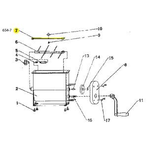 Schematic - Handle Bolt for 20 lb. Manual Mixer # 654