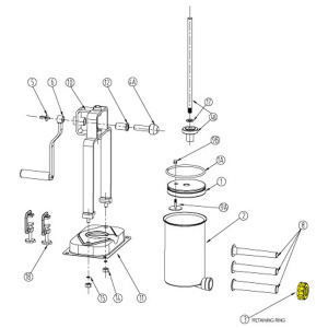 Schematic - Retaining Ring for 5 lb. Vertical Stuffer # 606