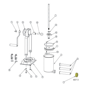 Schematic - Retaining Ring for 15 lb. Vertical Stuffer # 607