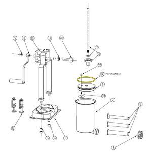 Schematic - Piston Gasket for  5 lb. Vertical Stuffer # 606