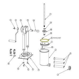 Schematic - Piston Gasket for 15 lb. Vertical Stuffer # 607