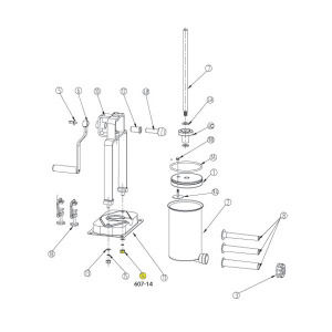 Schematic - Base Nut for 15 lb. Vertical Stuffer # 607 & 607SS