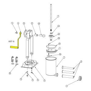 Schematic - Handle for 15 lb. Vertical Stuffer # 607