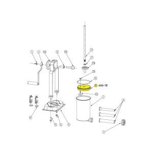Schematic - Piston for 5 lb. Vertical Stuffer # 606 & 606SS