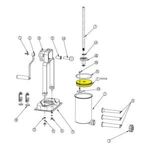 Schematic - Piston for 15 lb. Vertical Stuffer # 607